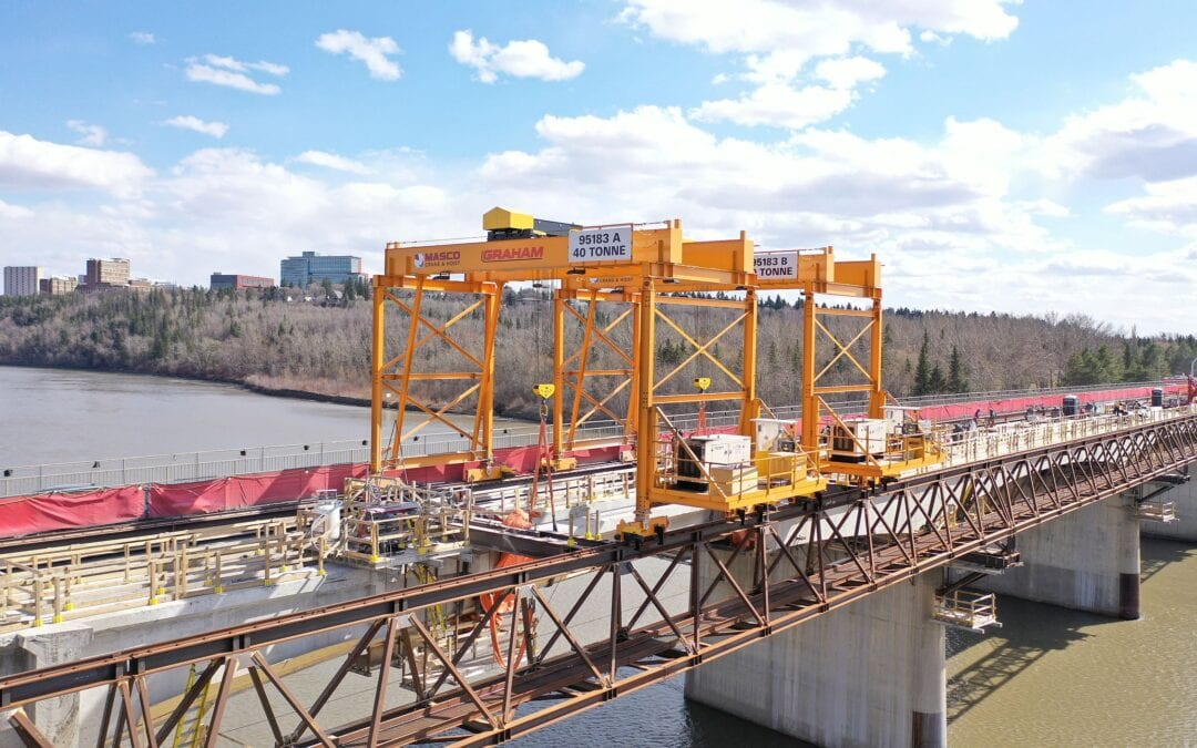 Masco Develops Cranes for Groat Road Bridge Renovation